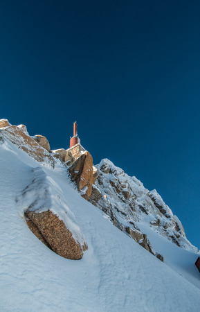 aiguille: Aiguille du Midi in France Stock Photo