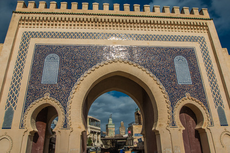 The Blue gate in Fez Morocco