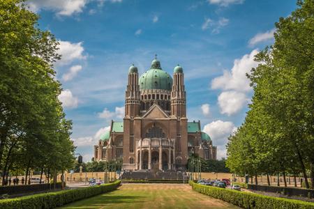 sacre coeur: Sacred Heart Basilica in Brussels Belgium