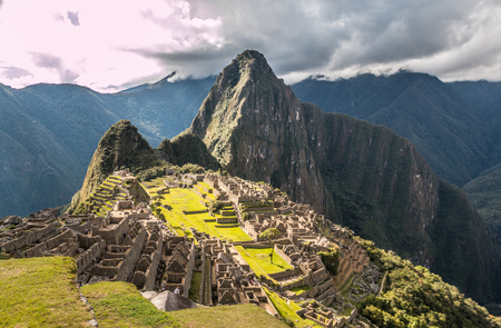 Machu Picchu in Andes mountains Peru