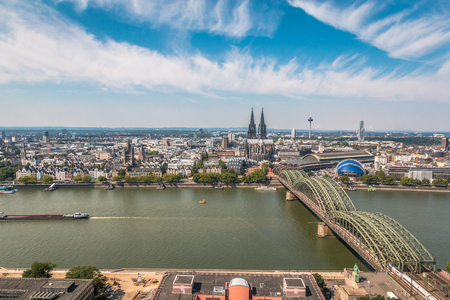 Nice view of Cologne in Germany Editorial