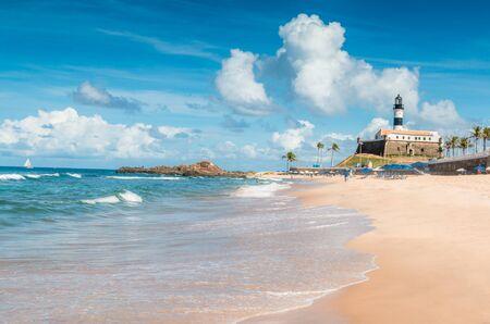 la playa de Barra en Salvador de Bahía Brasil