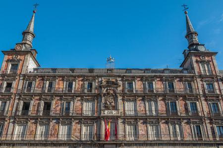 decorative balconies: Plaza Mayor in Madrid Spain