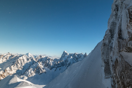 midi: View of alps from Aiguille du Midi in France Stock Photo