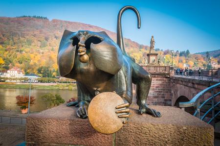 The lucky monkey in Heidelberg in Germany