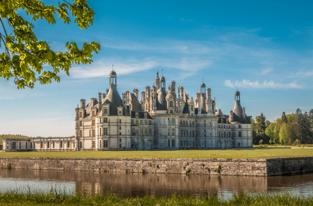 chambord: Nice view of Chateau Chambord in France Editorial