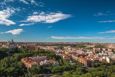Nice view of Madrid in Spain