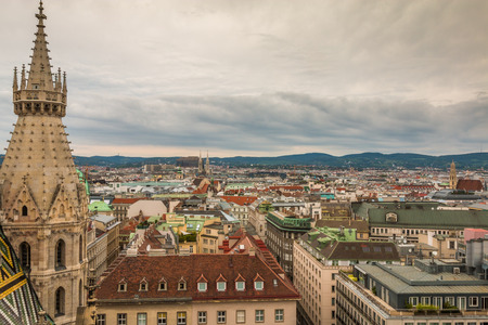 stephen: View of Vienna Austria Stock Photo