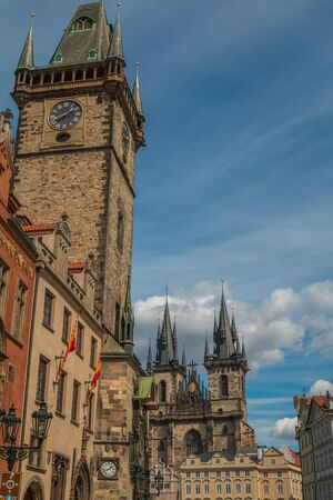town square: Old town square in Prague Editorial