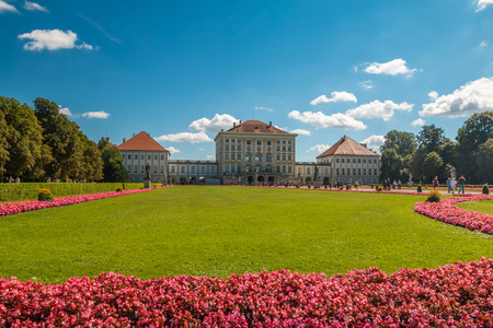 symetry: Nymphenburg palace in Munich Germany