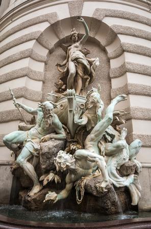 neptuno: Neptune Fountain in Vienna Austria