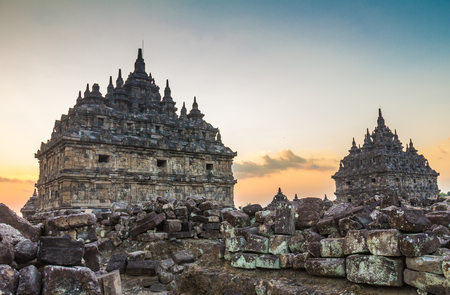 Plaosan Temple in Indonesia Stock Photo