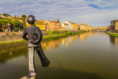 River in Florence Stock Photo