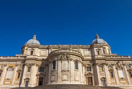 tiber: Church in Rome Stock Photo