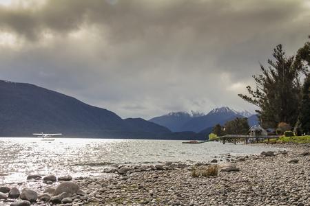 anau: Lake Te Anau in New Zealand Stock Photo