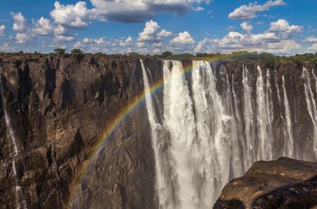 Rainbow in Victoria falls