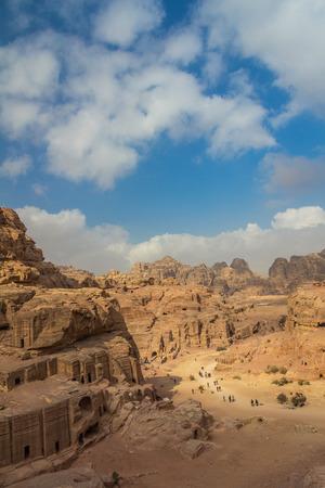 Petra ruins Stock Photo
