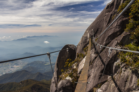 Rope bridge in Mount Kinabalu