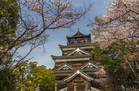Hiroshima castle in Japan Editorial