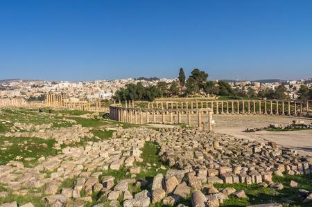 Roman ruins in Jerash Jordan