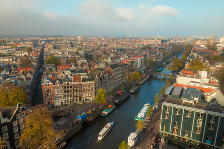 gabled: Nice view of Amsterdam