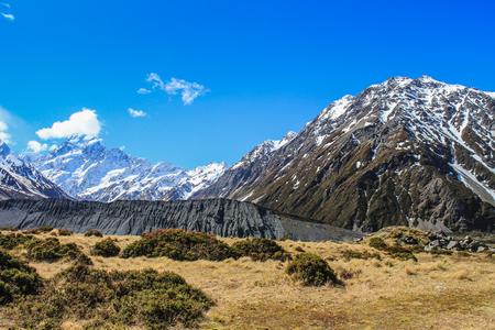 Hooker valley in Mount Cook New Zealand