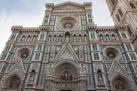 Facade of Florence Cathedral Stock Photo