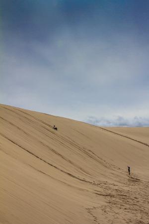 Port Stephens sand dune in Australia Reklamní fotografie