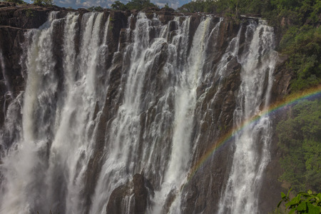 Victoria falls in Africa Stock Photo