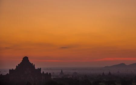 Sunrise in Bagan Burma