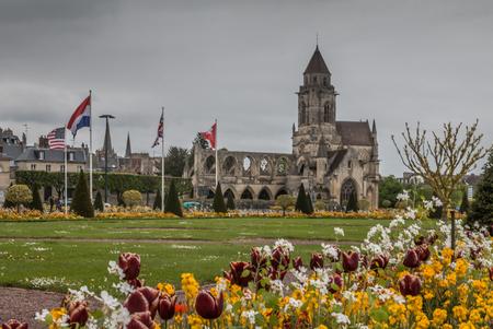 Ruins of a church in Caen Normandy France Stok Fotoğraf