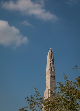 Madonna statue in Paris