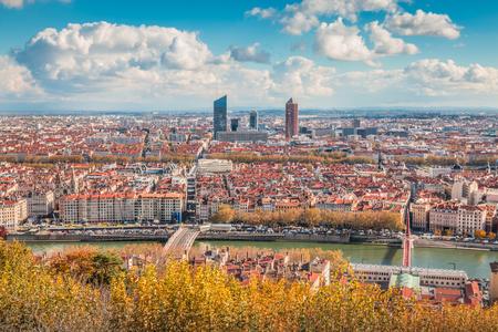 Skyline of Lyon France