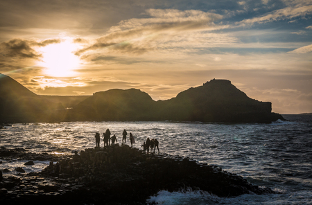 giants: Sunset in Giants Causeway