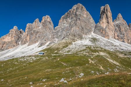 Tre Cime mountains in Dolomites