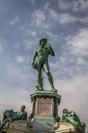 Statue of David in Florence Italy Stock Photo