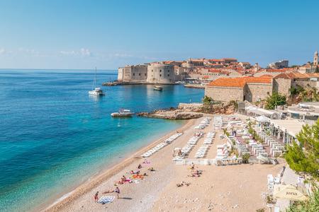 Beach in Dubrovnik Reklamní fotografie