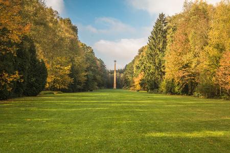 Obelisk in La Hulpe Belgium 新闻类图片