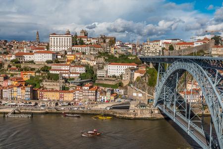 Bridge in Porto Portugal 免版税图像