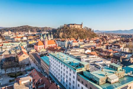 Nice view of Ljubljana Castle in Slovenia