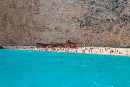 View of Beach in Navagio Shipwreck Zakynthos Greece