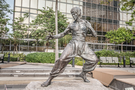 Bruce Lee statue in Hong Kong 免版税图像