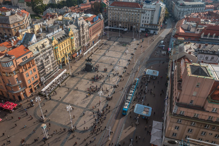 Zagreb main square 新闻类图片