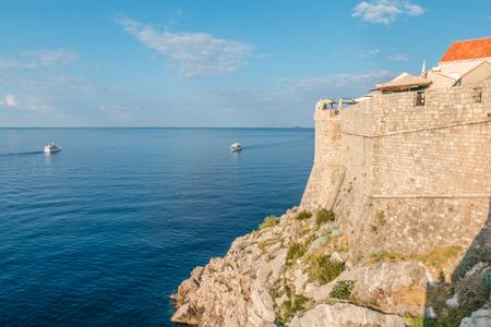 Walls of Dubrovnik 免版税图像