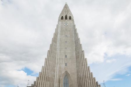 Facade of Reykjavik Cathedral