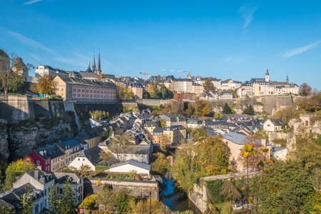 Luxembourg city 免版税图像