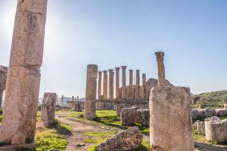Ruins of Jerash Jordan 免版税图像