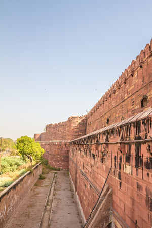 Walls of Agra Fort in India