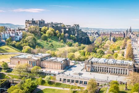 Edinburgh old castle Editorial