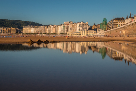 Beach in San Sebastian Basque Spain